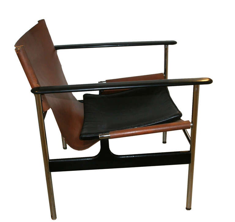 Pair of Sling Lounge Chairs 657 by Charles Pollock for