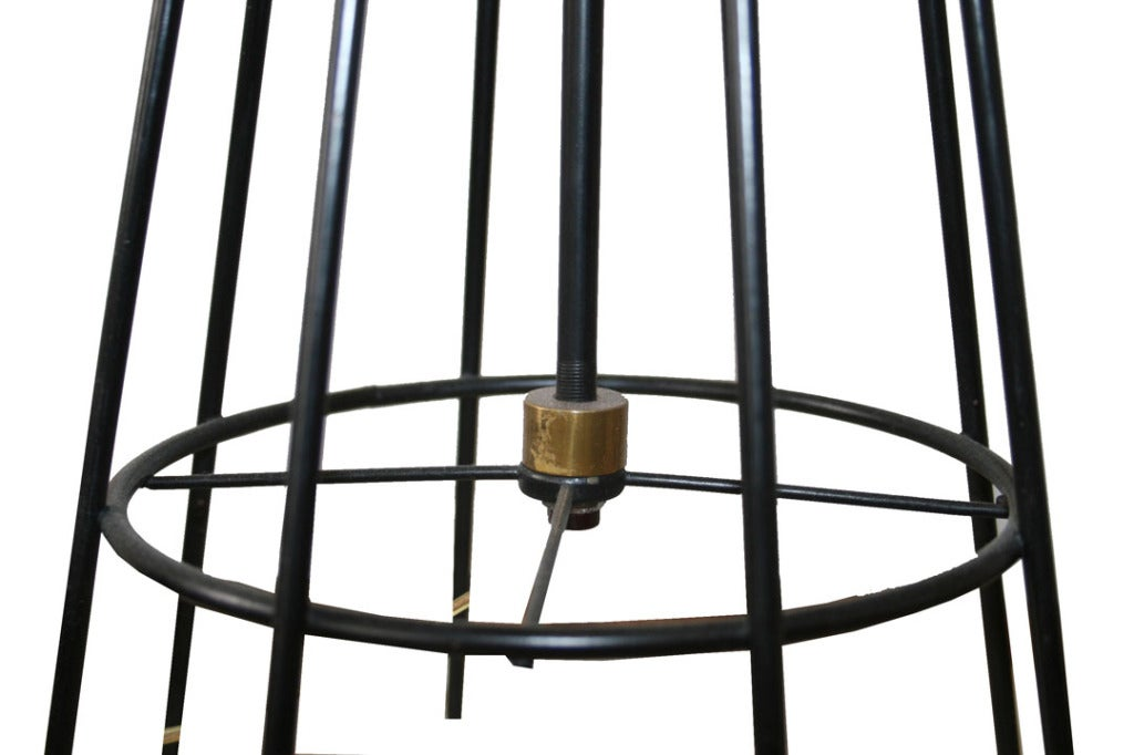 pair of iron table lamps by arthur umanoff at 1stdibs