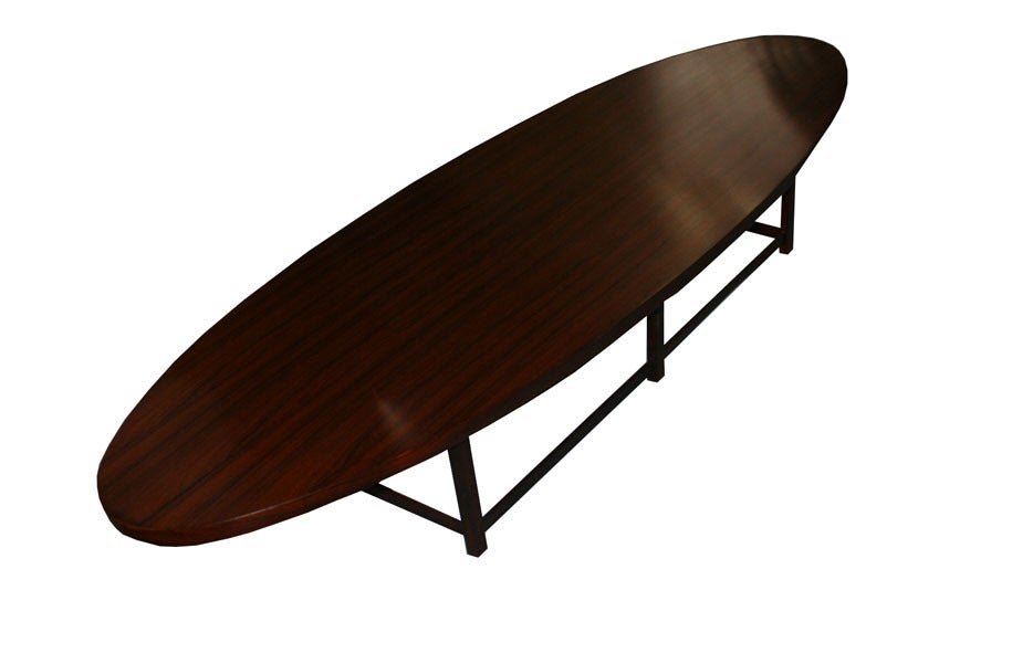 Paul McCobb Rosewood Oval Coffee Table For Lane At 1stdibs