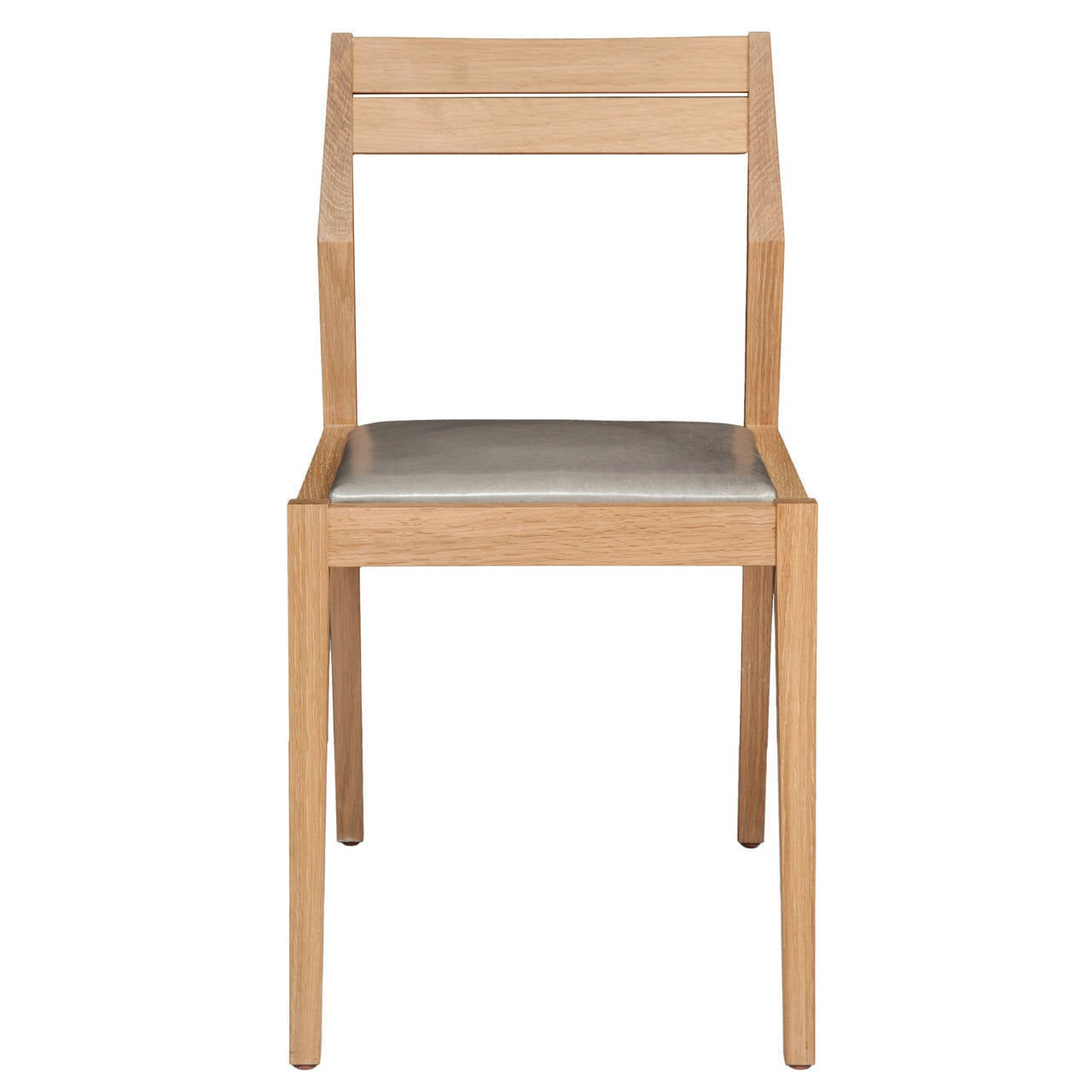 Stillmade Solid White Oak Dining Chair With Leather Seat