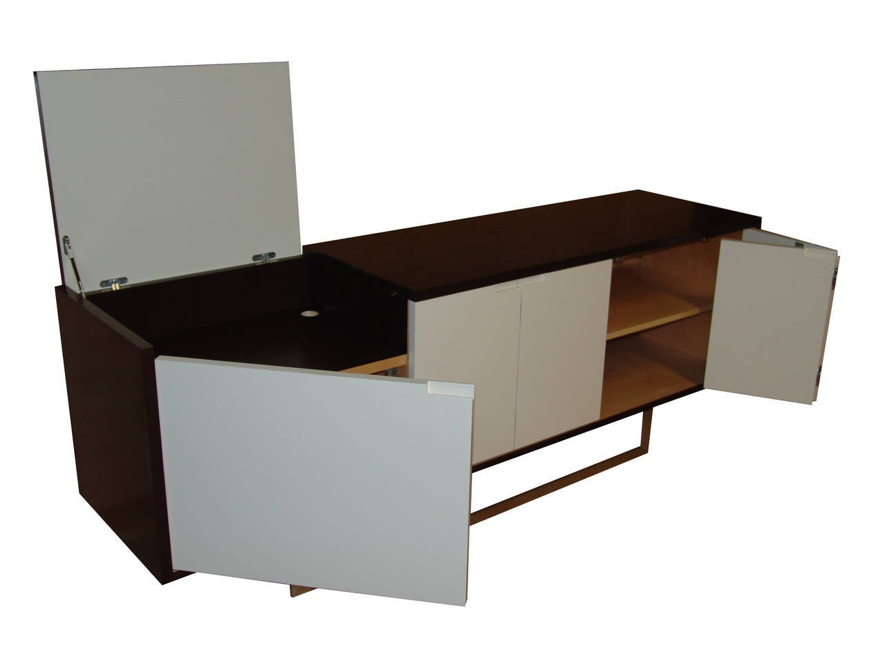 Contemporary Nathan Flip-Top Media Console For Sale