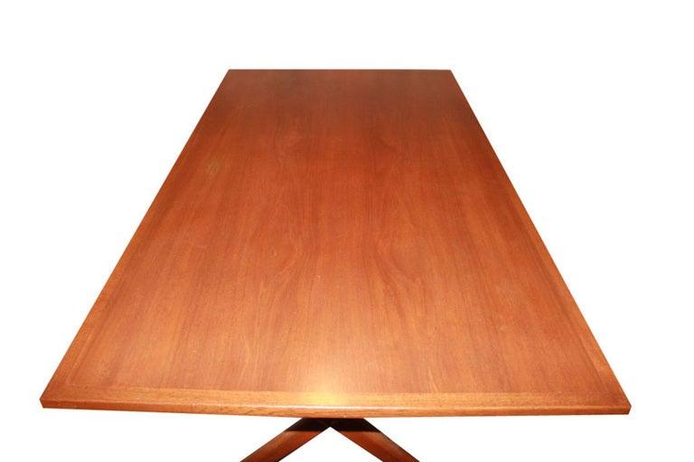 Hans Wegner X-Base Trestle Teak Dining Table 2