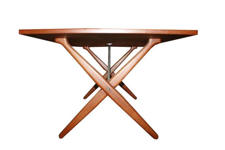 Hans Wegner X-Base Trestle Teak Dining Table 3