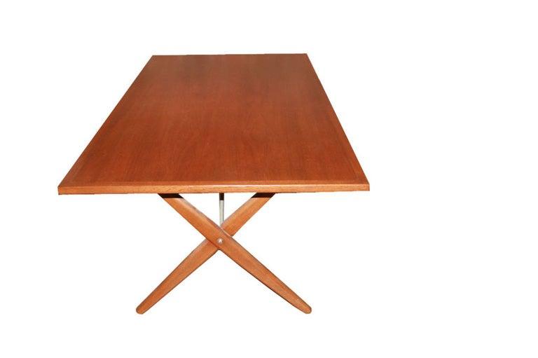 Hans Wegner X-Base Trestle Teak Dining Table 4