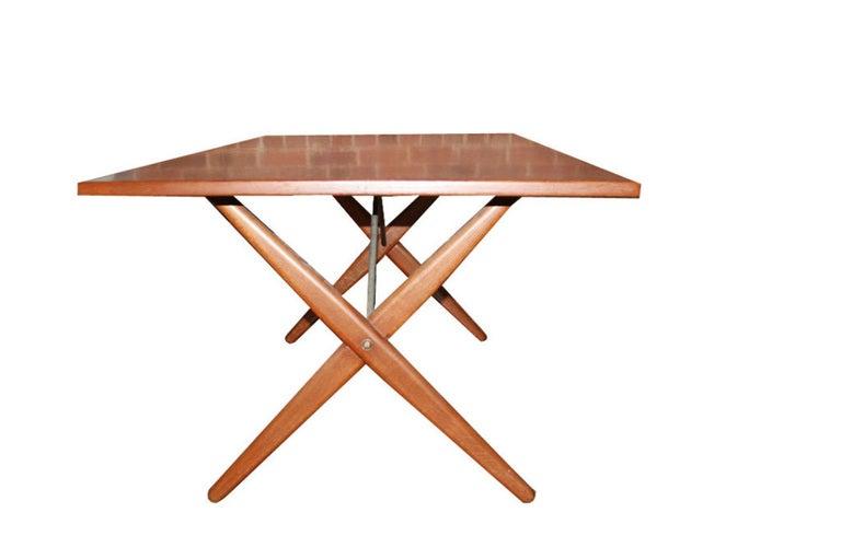 Hans Wegner X-Base Trestle Teak Dining Table 5