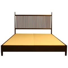 Nichol Walnut Platform Bed