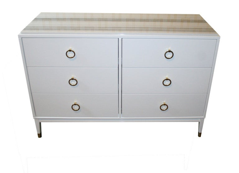 Spencer Lacquered Marble Top Dresser In Excellent Condition For Sale In New York, NY