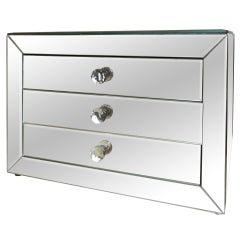 A Mirrored Three Drawer Jewelry Box