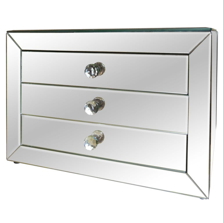 a mirrored three drawer jewelry box at 1stdibs