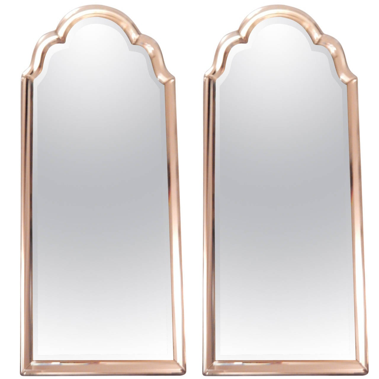 Arched gilt mirror at 1stdibs - Pair Of Venetian Style Mirror Framed Mirrors 1
