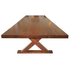 A Studio Crafted Walnut Woods Dining Room Table/Desk