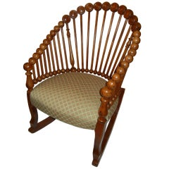 "The George Hunzinger ""Lollipop Rocking Chair C1870"
