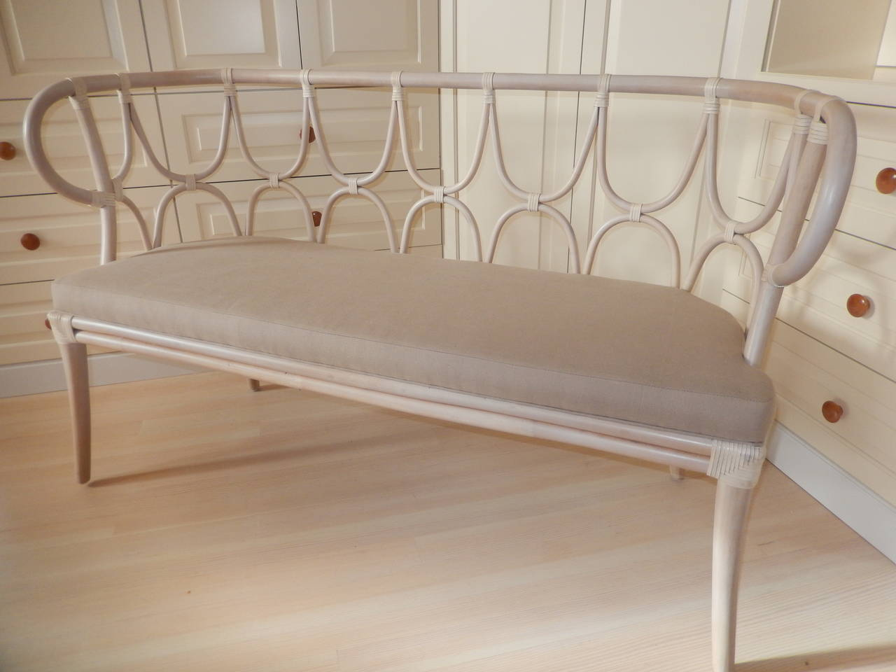Art Nouveau A Thonet Style Bentwood Settee For Sale