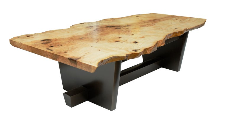 American Studio Crafted Two Piece Ash Burl Free Edge Coffee Table At 1stdibs