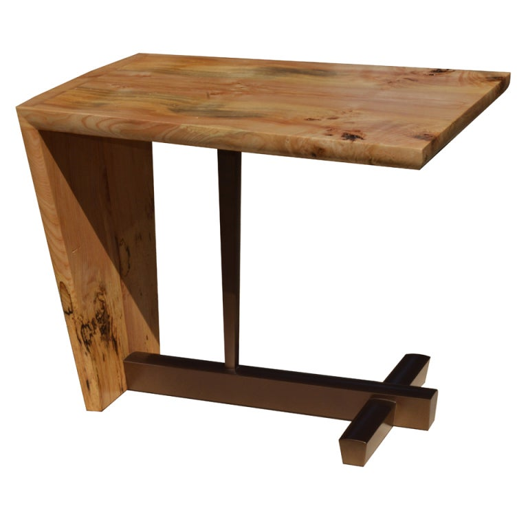 American Studio Craft Artist David N. Ebner's Free Edge End Table For Sale