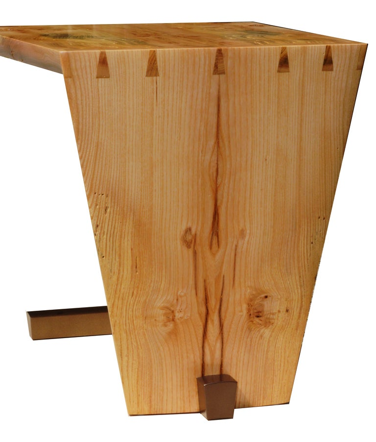 American Craftsman American Studio Craft Artist David N. Ebner's Free Edge End Table For Sale