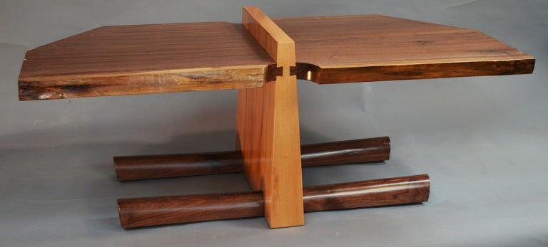 Hand-Carved Kahn Coffee Table by American Studio Craft Artist David N. Ebner For Sale