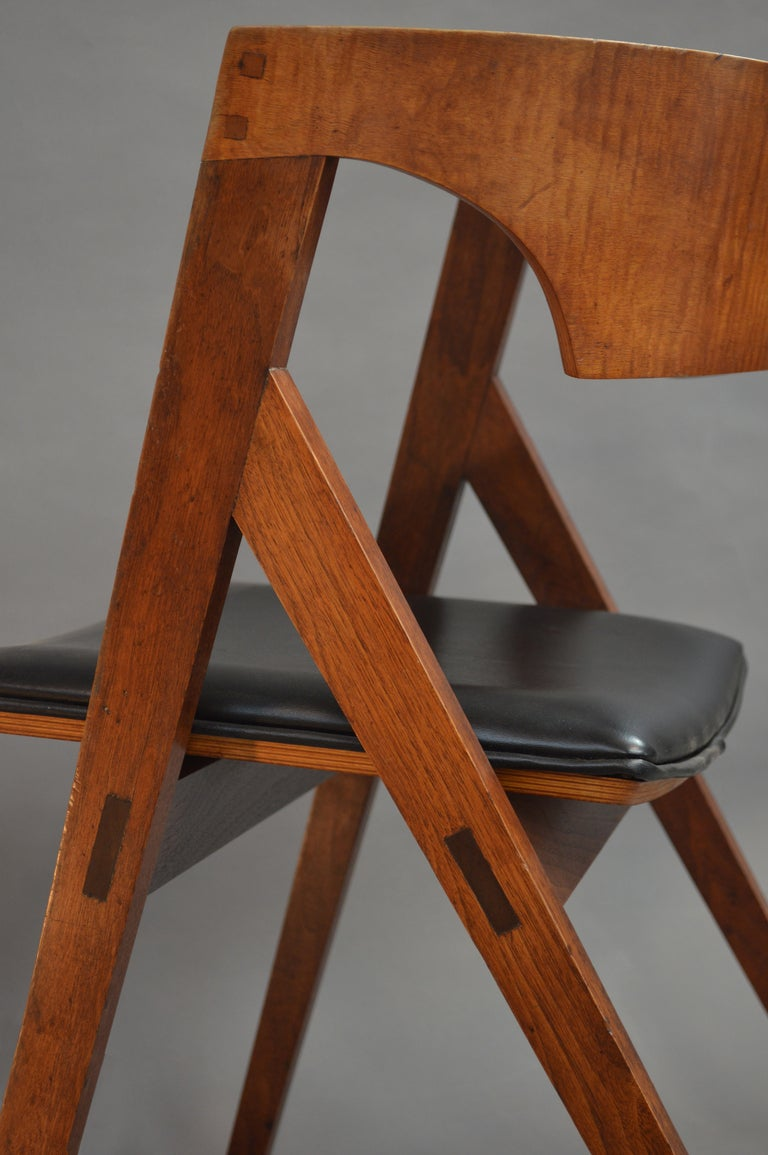 Modern American Studio Craft Artist David N. Ebner's Dining Chair For Sale