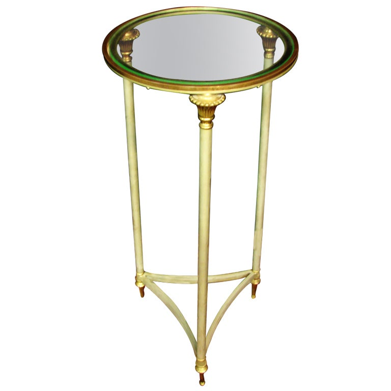 Iron and Glass French Neoclassical Style Stand or Table