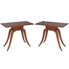 A Pair of Paul Frankl Side Tables.