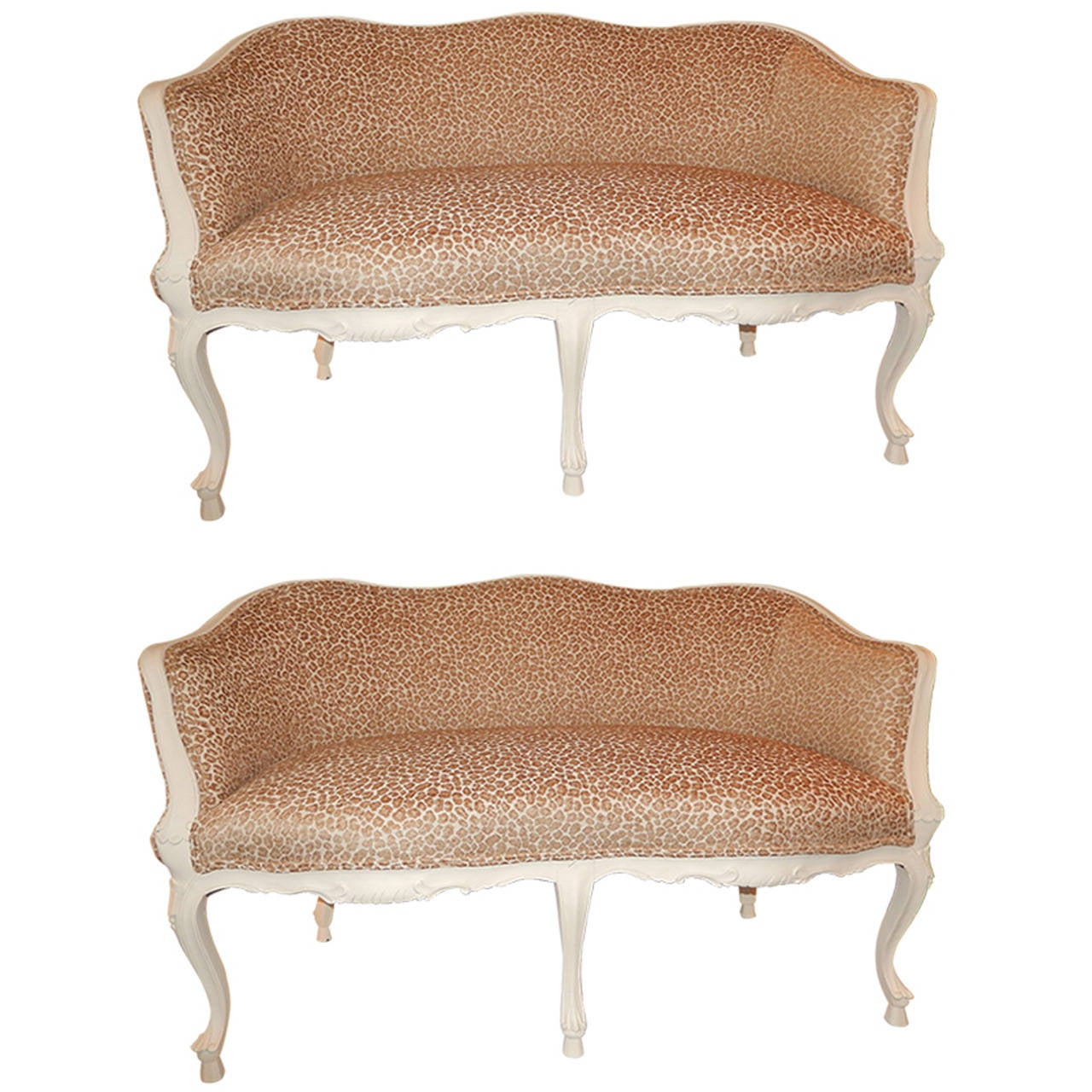 Pair Of French Louis Xvi Style Loveseats At 1stdibs
