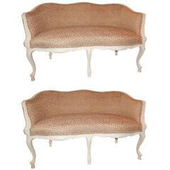 Pair of French Louis XVI Style Loveseats