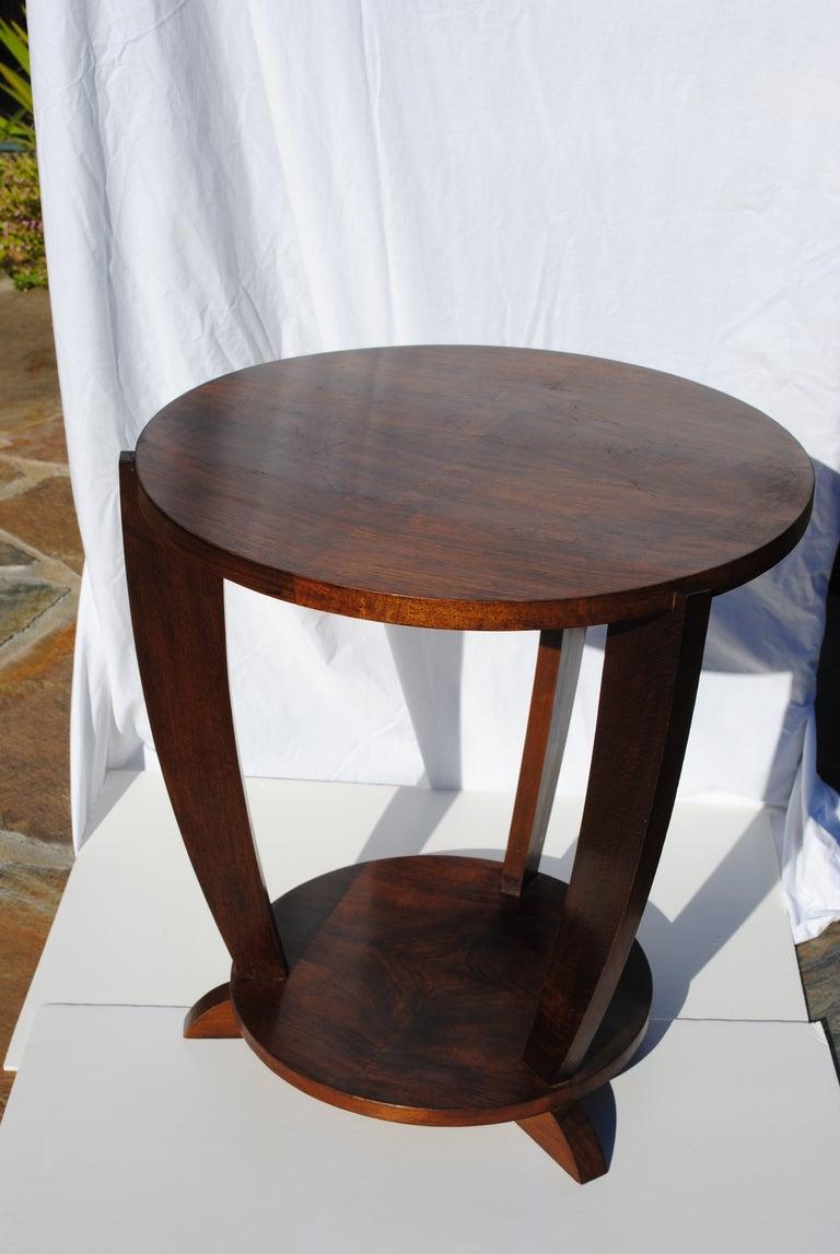 An American Art Deco Mahogany Wood Side Table 1930s