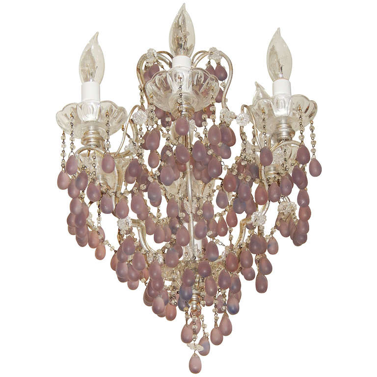 Rare French Boudoir Amethyst And Crystal Chandelier At 1stdibs