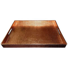 An Attractive Copper Faux Python Serving Tray
