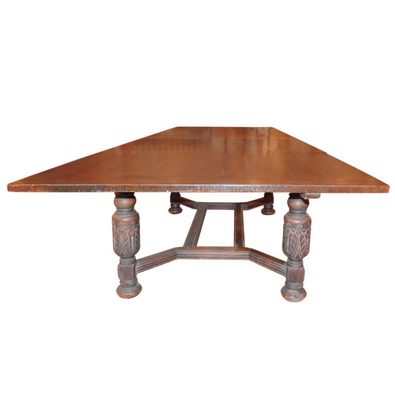Wide Dining Room Tables: A Large 19th Century Oak American Dining Room Table At 1stdibs