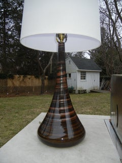 Swan Neck Studio-Crafted Danish Pottery Lamp