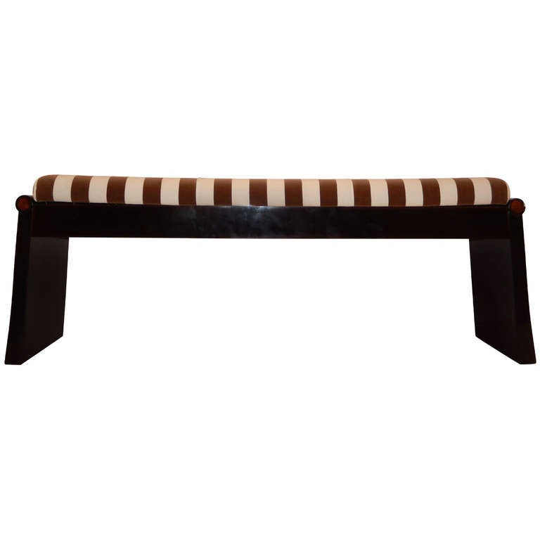 Asian Form Upholstered Bench At 1stdibs