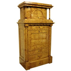 An Antique Austrian Biedermeier Armoire  c1850s
