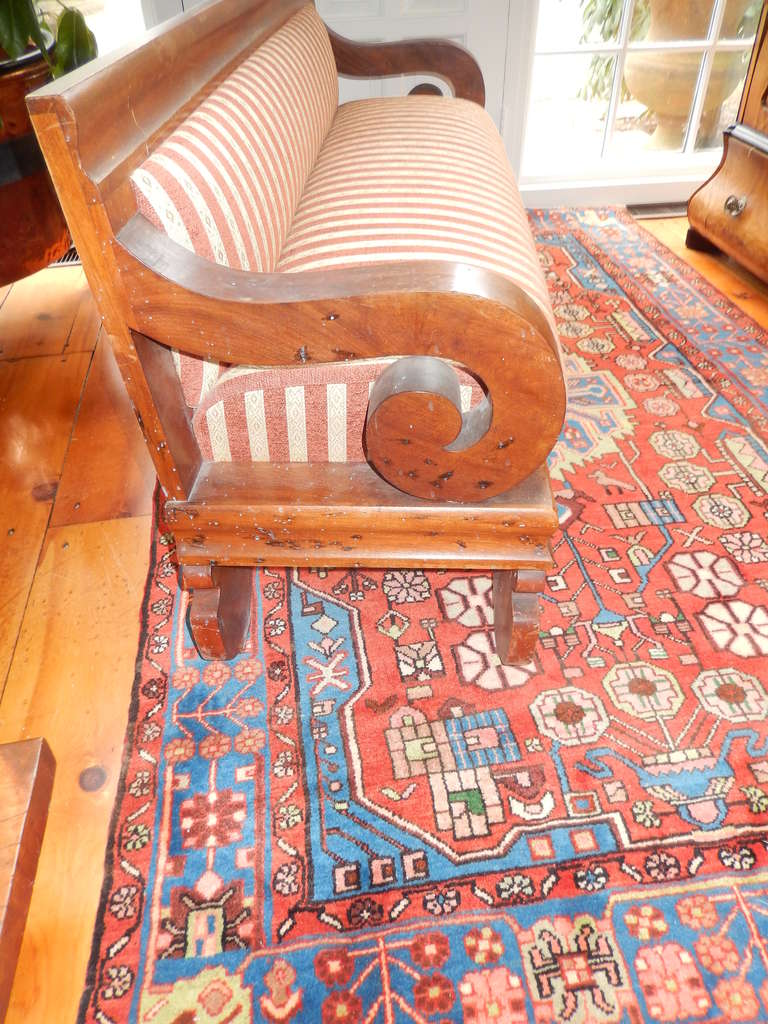 American Empire Church Pew Bench or Settee 4
