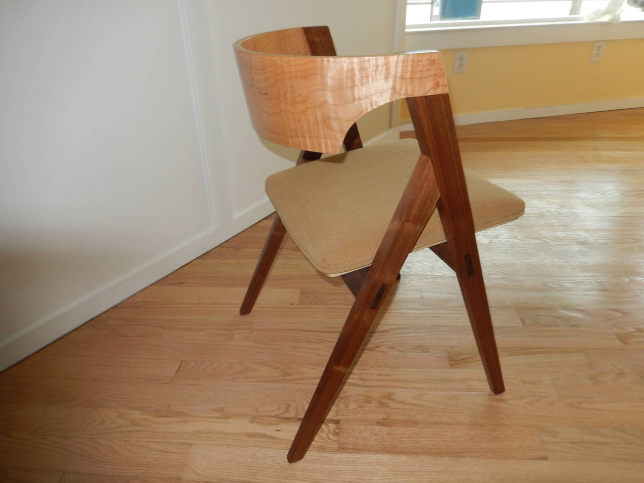 Hand-Crafted David N Ebner's Dining Room or Desk Chair For Sale