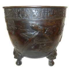 An Early 19thc Bronze Planter (Japomisme)