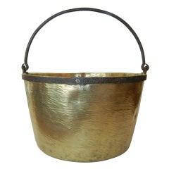 An Antique Early 19th century Brass & Copper Bucket