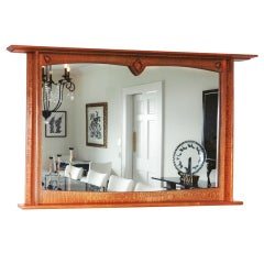 American Studio Craft Artist David N.Ebner, Lacewood Wall Mirror
