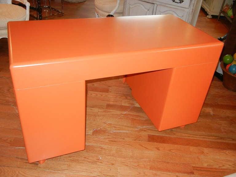A Retro Bright Orange Danish Modern 1960s Desk At 1stdibs