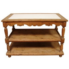 An Antique American Marble Top Center Table/Etagere