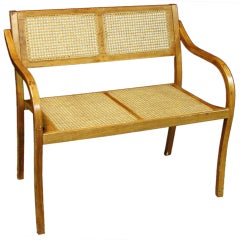 A English Regency Style Caned Settee
