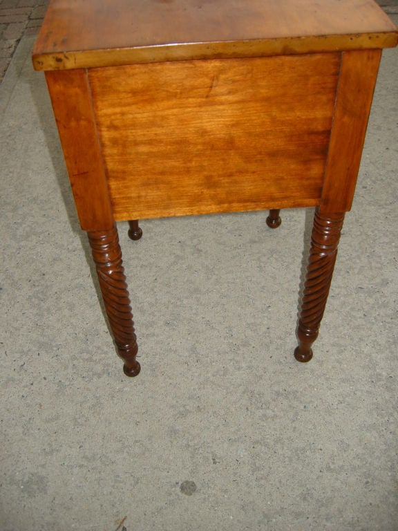 American Antique Cherry Maple Wood Night Stand At 1stdibs