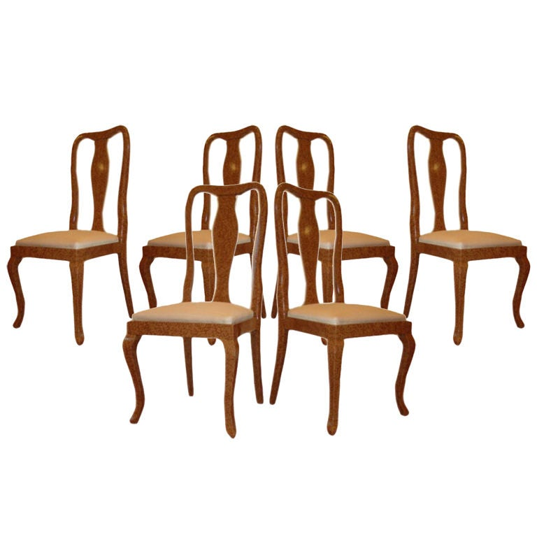 six shapely italian lacquered dining room chairs at 1stdibs