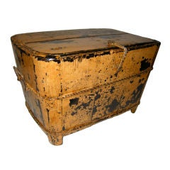 An Unusual & Decorative Late 19th century painted wooden box.