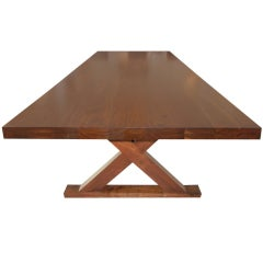 An Industrial Studio Crafted Large Dining Room Table/Desk