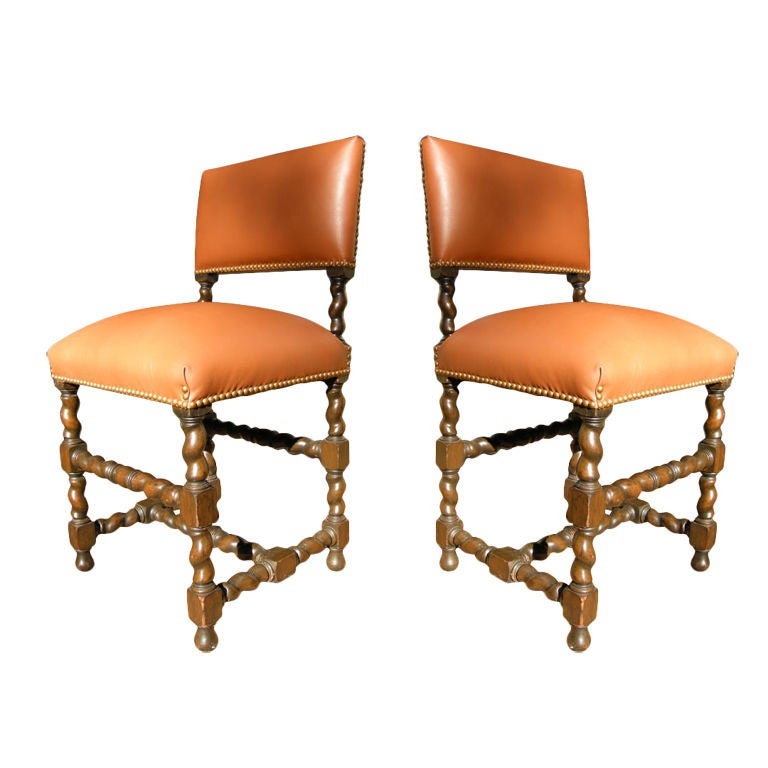 pair of late 19th century jacobean style chairs at 1stdibs