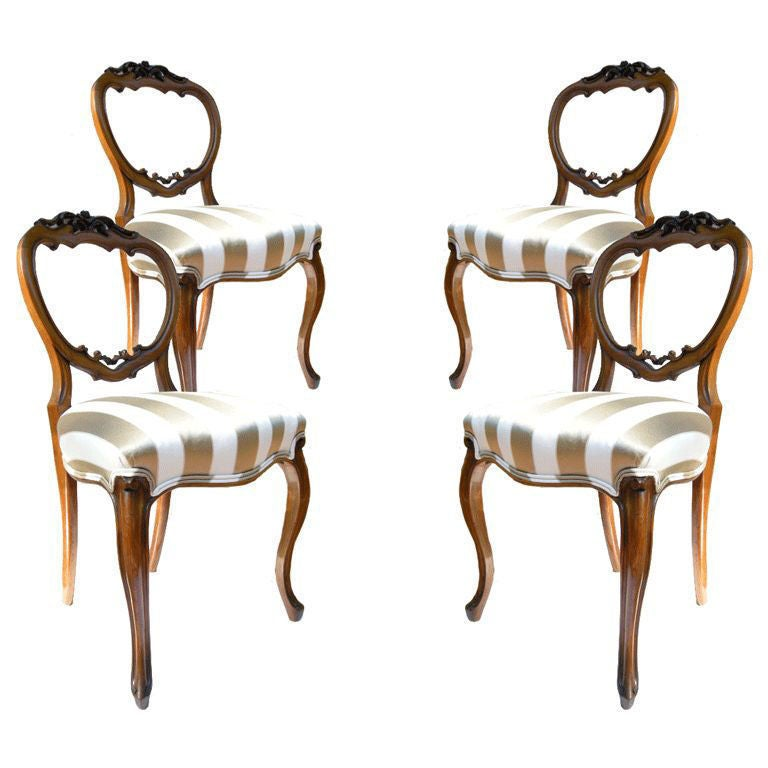 four elegant american hand carved antique chairs at 1stdibs