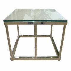 Mid-Century Polished Nickel End Table/Coffee Table