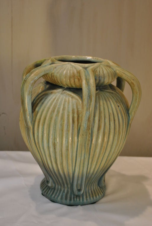 A wonderful grueby esque american arts and crafts pottery for Arts and crafts vases pottery