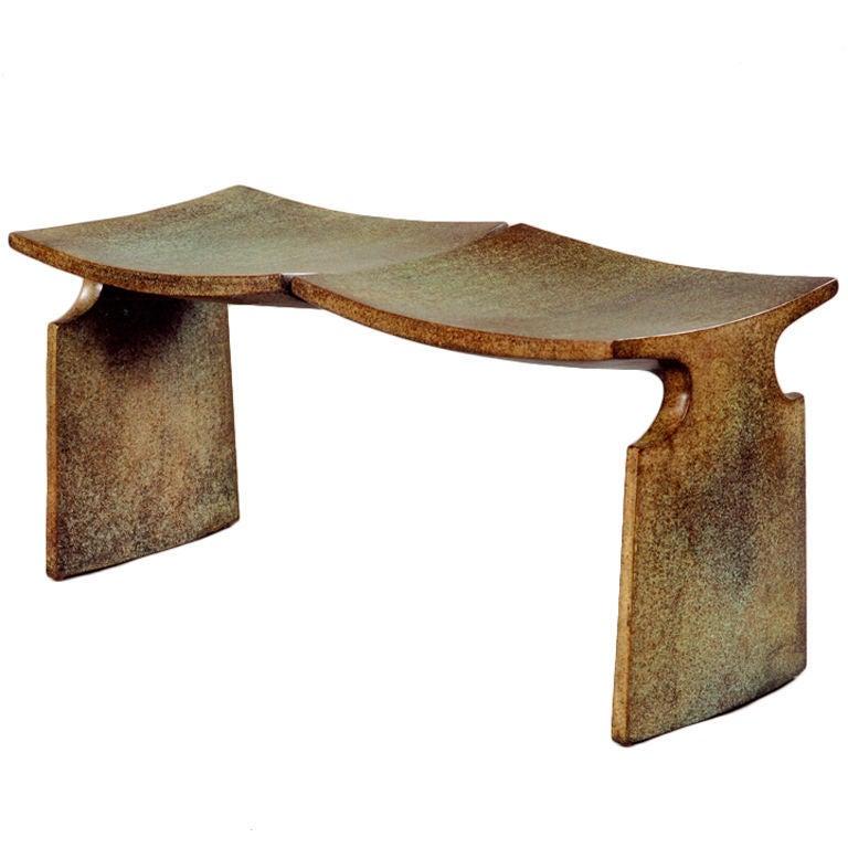 Bronze MFA Bench by American Studio Craft Artist David N. Ebner For Sale